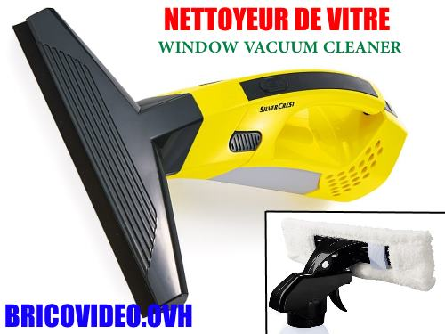 Silvercrest cordless window vacuum cleaner lidl SFR 3.7 a2 advice customer test reviews price instruction manual technical data for simultaneously squeegeeing and vacuuming water from smooth surfaces such as windows.