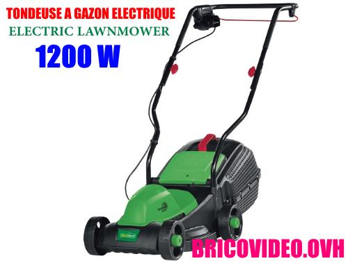 Florabest electric lawnmower 1200w frm 1200 d3 advice customer test reviews price instruction manual technical data for mowing domestic lawns and grass area