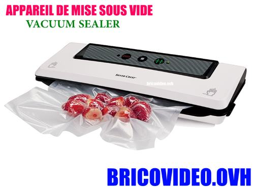 Silvercrest vacuum sealer SFS 110 b2 lidl advice customer test  reviews price instruction manual technical data for the bag sealing or vacuum-packing and bag sealing of food