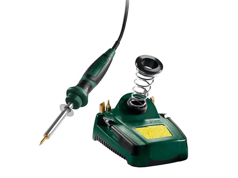 PARKSIDE Soldering Iron Set PLBS 30 B2 lidl advice customer test reviews price instruction manual technical data for soldering of electrical wires and circuit boards as well as use as a wood burning pen.