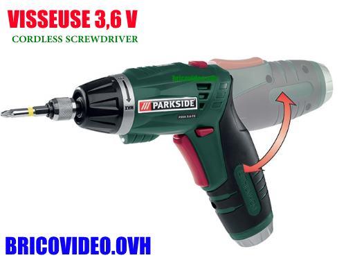 Parkside cordless screwdriver pssa 3,6V lidl