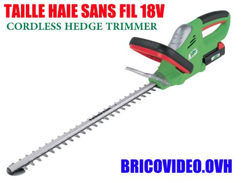Florabest cordless hedge trimmer 18v FAH 18 C4 lidl