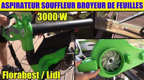 Lidl leaf vacuum florabest fls 3000w 3-in-1