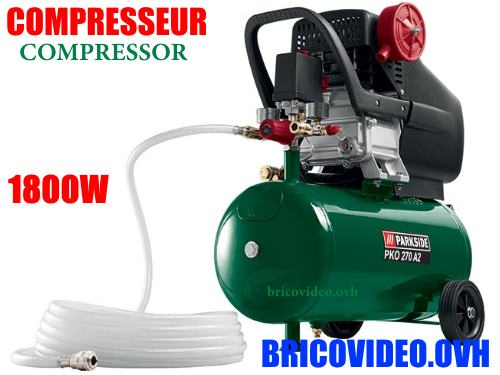 Lidl 24L air compressor parkside pko 270
