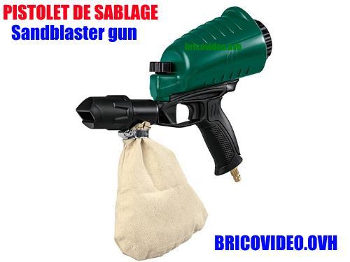 Lidl Pneumatic Sandblaster Gun Parkside pdsp 1000