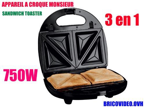 Lidl Sandwich Toaster silvercrest ssmw 750w