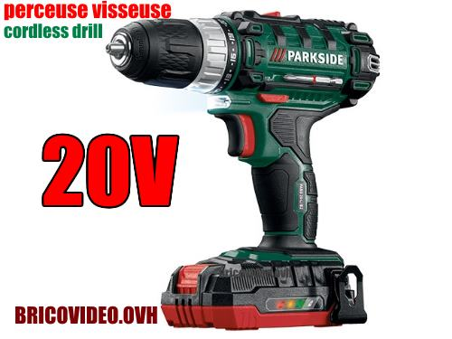 Lidl cordless drill parkside pabs 20v