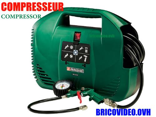 Parkside Portable Electric Compressor Lidl PKZ 180 L 1100 W