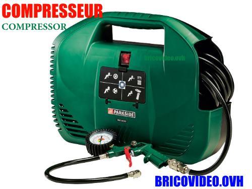 Parkside Portable Electric Compressor Lidl PKZ 180 L 1100 W