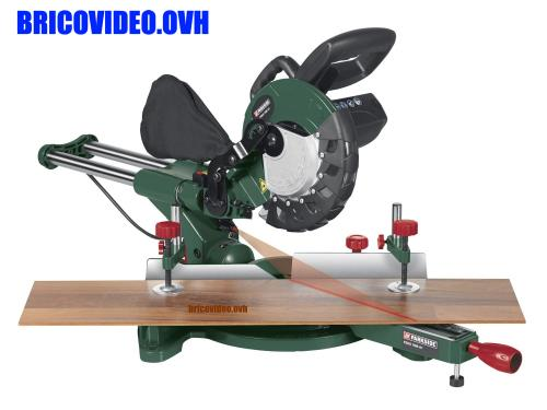 Parkside Sliding Cross Mitre Saw lidl 1500 w 5000 rpm to crosscut wood and plastic