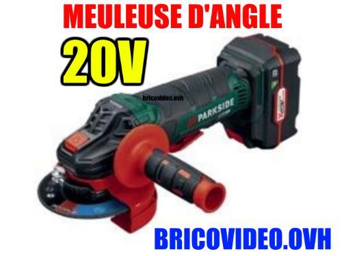 Parkside 20V cordless Bare Unit Angle Grinder Pwsa 20-Li Lidl 10000 rpm