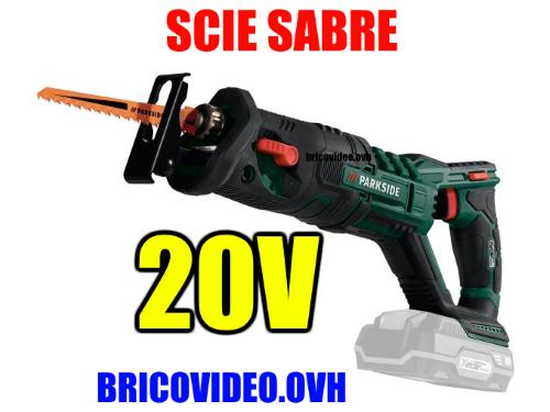 Lidl Parkside 20V cordless sabre saw pssa 20-li 3000 rpm 20 mm 2 Ah