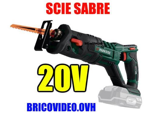 Lidl Parkside 20V cordless sabre saw pssa 20-li 3000 rpm 20 mm 2 Ah