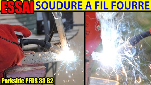 Lidl Flux-Cored Wire Welder Parkside PFDS 33 B2 90A TEST